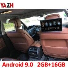YAZH 11.6 인치 안 드 로이드 9.0 머리 받침 자동차 모니터 1920*1080 HD 디스플레이 AUX FM 송신기 블루투스 HDMI 입력 USB SD 카드