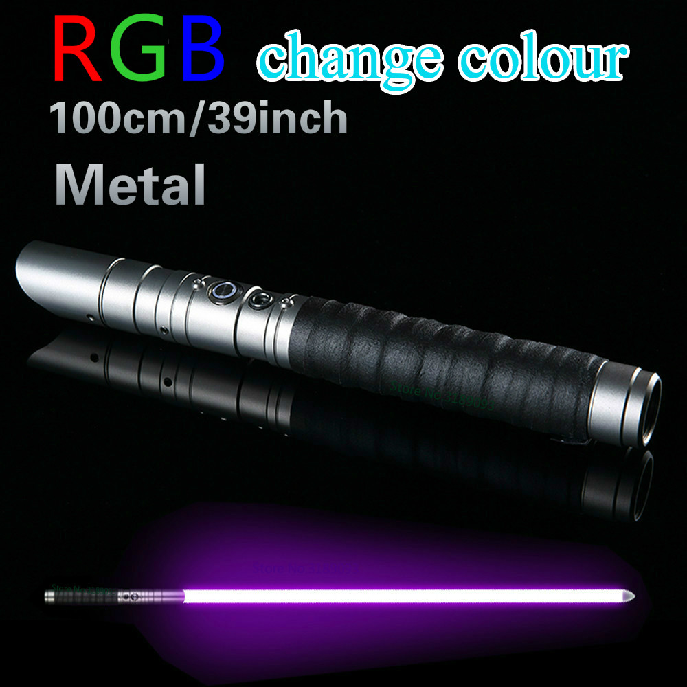 Metal Lightsaber RGB Jedi Sith Saber Light Force Fx Lighting Heavy Dueling Color Changing Sound Foc Lock Up Metal Handle