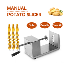Stainless Steel Manual Potato Spiral Slicer French Fries Chips Fry-Cutter Twisted Shape Kitchen Gadget Tool