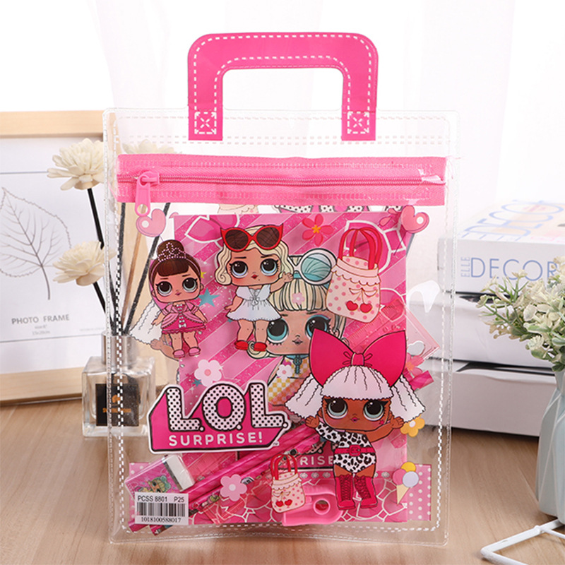 Stationery LOL Dolls Surprise Set New Creative Portable PVC Children's Anime Figures Model School Supplies Gifts For Girl