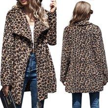 Женское пушистое плюшевое пальто с длинным рукавом винтажная