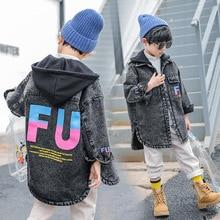 Детская джинсовая куртка для мальчиков; сезон осень-зима; куртки для мальчиков; пальто; детская верхняя одежда; пальто для мальчиков; детская куртка; От 5 до 13 лет