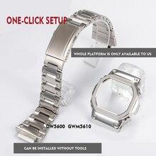 316L acier inoxydable bracelet de montre lunette/boîtier DW5600 GW M5610 en métal bracelet en acier ceinture outils pour hommes/femmes cadeau bracelet de montre GW  B5600
