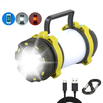 Camping Lamp LED Light USB Rechargeable Flashlight Dimmable Spotlight Work Light Waterproof Searchlight Emergency Torch Portable cob work light flashlight examining light led camping lamp led tent light portable lanterns foldable torch lamp portable lights