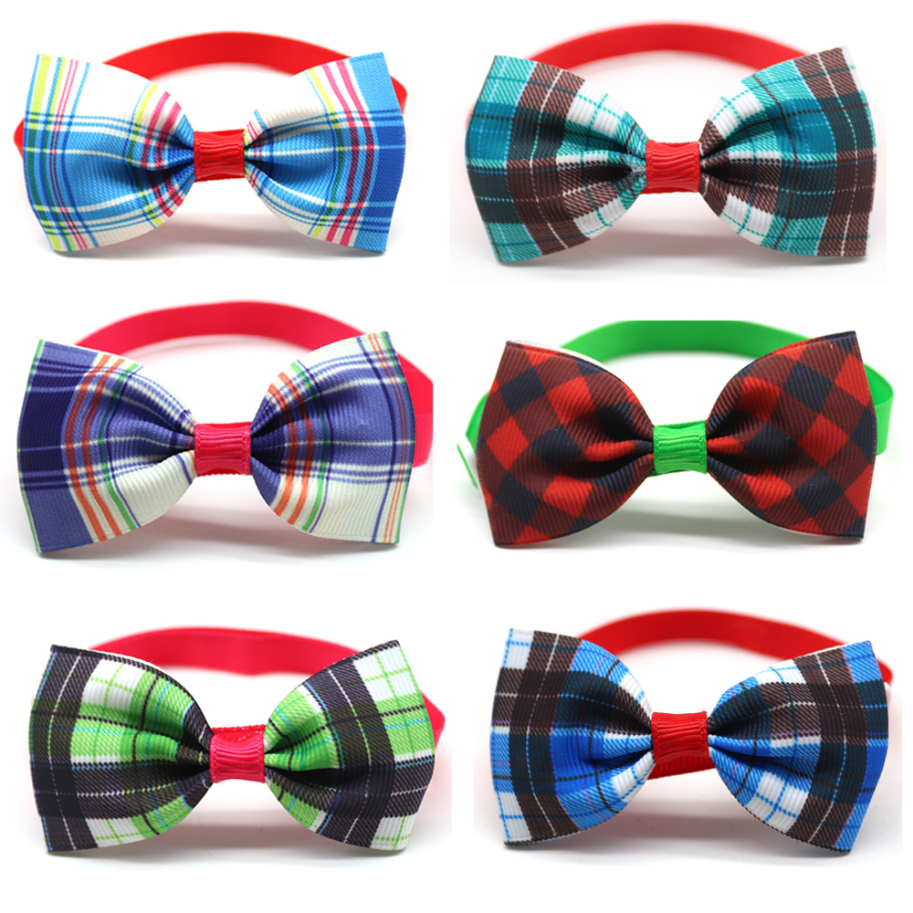 Grooming-Supplies Bow-Tie Neckties Bowties-Collar Pet-Bows Puppy-Cat-Ties Wholesale 100pcs