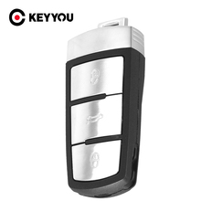 KEYYOU NEW Replacement Shell Smart Remote Key Case Fob for VW VOLKSWAGEN CC Passat Magotan 3 Buttons Free Shipping