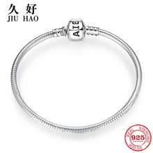 925 Sterling Silver Charm Bow tie snake bone chain Bracelets diy for fashion jewelry womens accessories trendy 2018