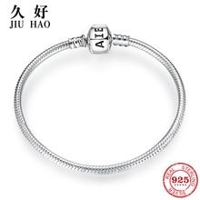925 Sterling Zilveren Bedel Strikje Snake Bone Chain Armbanden Diy Voor Mode sieraden Dames Accessoires Trendy 2018