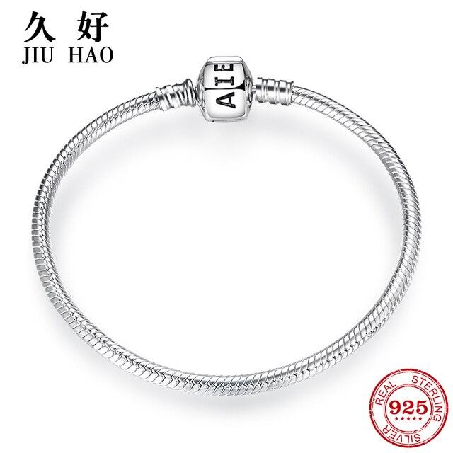 925 srebro urok muszka łańcuszek wężykowy z kości bransoletki diy dla biżuterii akcesoria damskie trendy 2018