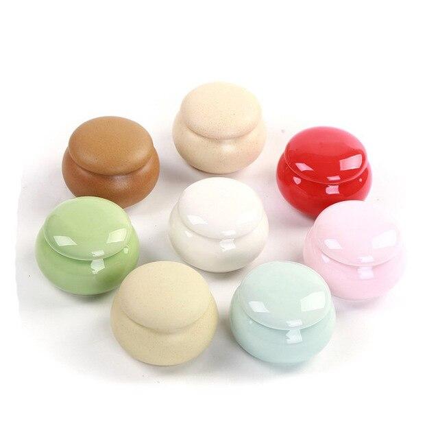 Small Mini Glaze Ceramic Jar Porcelain Jar Medicine Jar Tea Cans Incense Powder Jar Ointment Jar Sealed Storage Tank