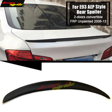 E93 Rear Trunk Lip Spoiler Wing FRP Unpainted P Style For BMW 3 Series 2 doors Convertible 2006-2013 M3 325i 328i 330i 335i