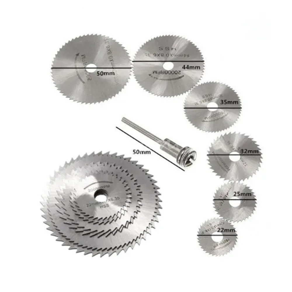 Mini HSS Circular Saw Blade Rotary Tool For Dremel Metal Cutter Power Tool Set Wood Cutting Discs Drill Mandrel Cutoff 22-60mm