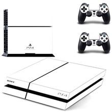 Autocollants PS4 de couleur transparente blanc pur Play station 4 autocollants autocollant de peau pour PlayStation 4 PS4 Console et peaux de contrôleur