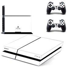 Прозрачная наклейка для консоли PS4, стикеры чистого белого цвета для PlayStation 4, накладки на консоли PS4 и контроллеры