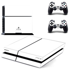 Reine Weiß Transparente Farbe PS4 Aufkleber Play station 4 Haut Aufkleber Decals Für PlayStation 4 PS4 Konsole & Controller Skins