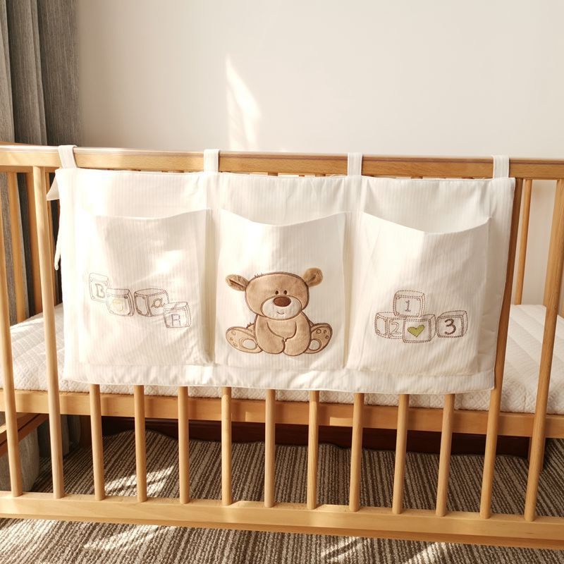 Pure Cotton Baby Bed Buggy Bag Hanging Bag Baby Bedside Aiaper Diaper Baby Diapers Storage Bedside Storage Pouches