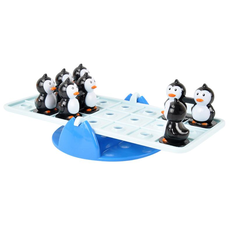Cartoon Penguin Balance Seesaw Toy Parent-child Puzzle Interactive Game Board Toys Kids Educational Desktop Games