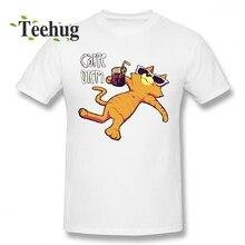 Unisex Carpe Diem Cat T shirt Style Homme Tee Shirt For Male Geek Summer For Man O-neck Top Tees pratchett t carpe jugulum