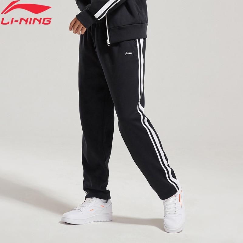 Li-Ning Unisex The Trend Sweat Pants 82% Cotton 18% Polyester Regular Fit LiNing Li Ning Comfort Sports Pants AKLN664 MKY413