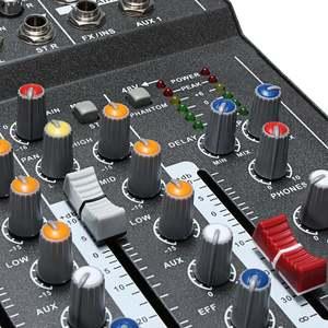 Image 4 - מקצועי 7 ערוץ USB אודיו מיקסר מיקרופון קול ערבוב קונסולת KTV מגבר מיקסר עם USB 48V פנטום כוח