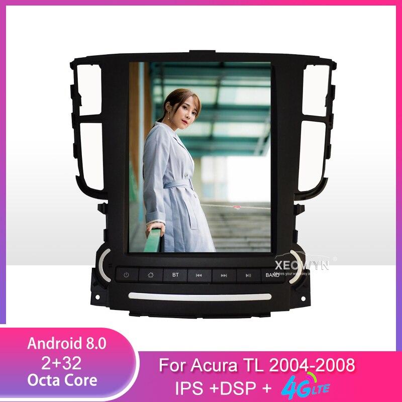9,7 дюймов Android 8,1 Автомагнитола стерео для Acura TL 2004-2008 gps навигация Поддержка рулевого колеса управления полный сенсорный 1024*600
