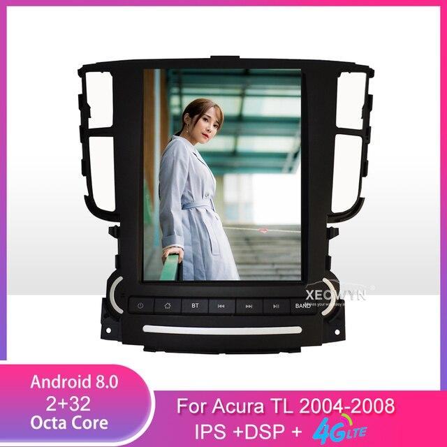 9.7 cala Android 8.1 Radio samochodowe Stereo dla Acura TL 2004-2008 nawigacja GPS wsparcie sterowanie kierownicą full touch 1024*600
