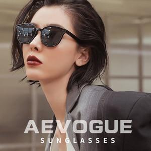 Image 3 - AEVOGUE New Women Retro Outdoor Polarized Sunglasses Transparent Korean Round Fashion Driving Sun Glasses Unisex UV400 AE0850