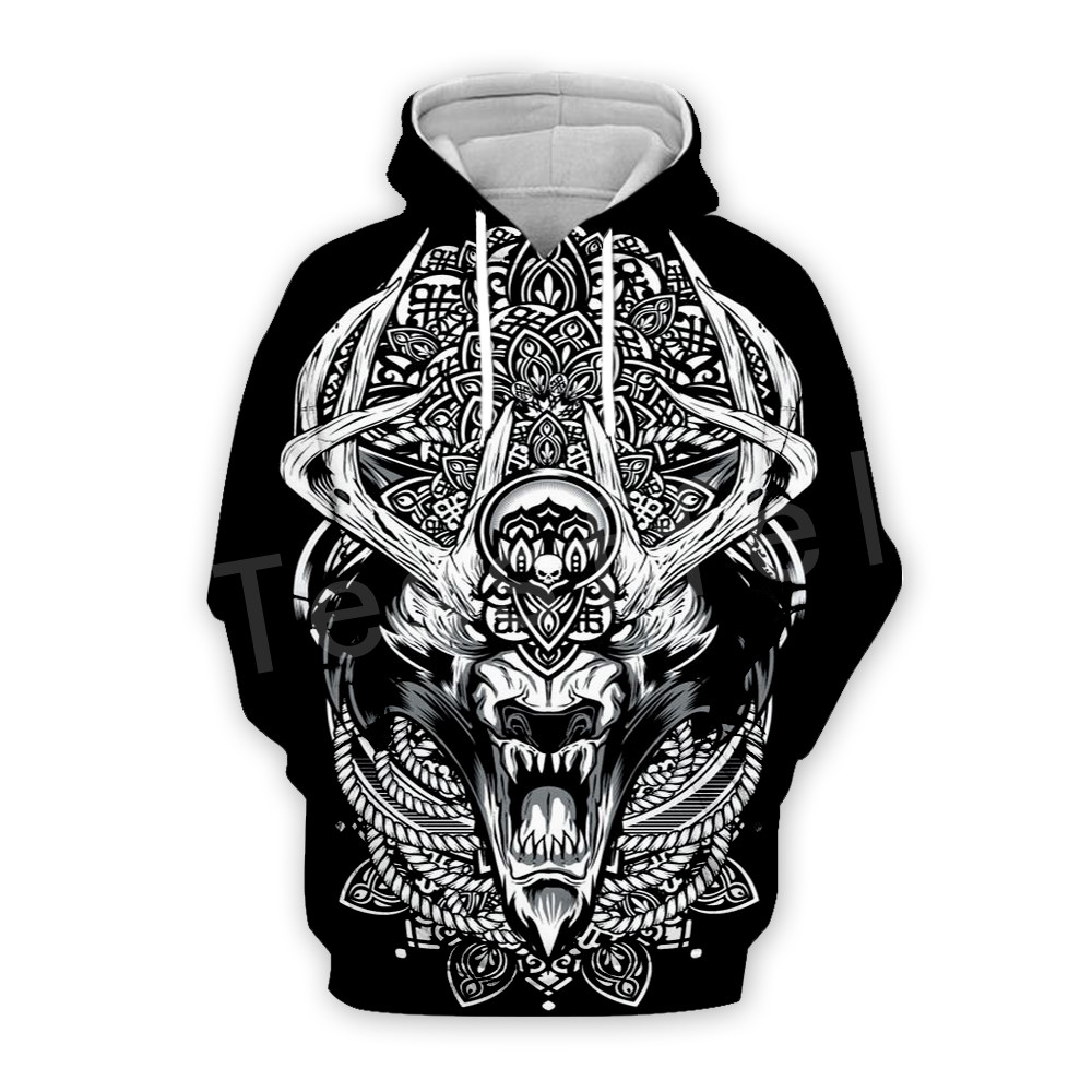 Tessffel Unisex Viking Tattoo Viking Warriors Tracksuit NewFashion Casual MenWomen 3DPrint Sweatshirts/Hoodie//Jacket S-8