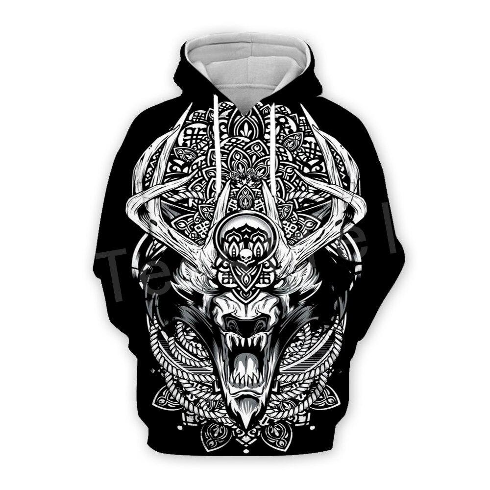 Tessffel Unisex Viking Tattoo Viking Warriors Tracksuit NewFashion Casual MenWomen 3DPrint Sweatshirts/Hoodie//Jacket S-8