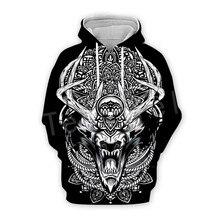 Tessffel Unisex Viking Tattoo Warriors Tracksuit NewFashion casual MenWomen 3DPrint Sweatshirts/Hoodie/shirts/Jacket s-8