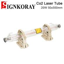 SignKoray 20 Вт Co2 Стекло лазерная трубка Dia.50mm Длина 500 мм Стекло Лазерная лампа для CO2 Лазерная гравировальная и режущая машина