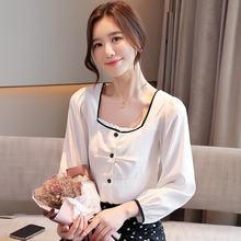Корейские женские блузки белые рубашки женская блузка с длинным