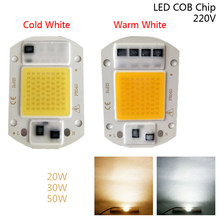 1/5pcs 20W-50W DIY Flood Light LED Chip AC 220V Street Lamp Smart IC Outdoor Cold White Warm White COB(China)