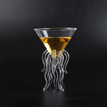 100ML Creative Octopus Cocktail Glass Transparent Jellyfish Cup Juice Goblet Conical Wine Champagne