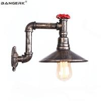 Sótão Retro Decoração CONDUZIU a Lâmpada de Parede de Ferro Antigo Parede Da Tubulação de Água Industrial Light Edison Arandela Aisle Cabeceira Iluminação Doméstica|Luminárias de parede| |  -
