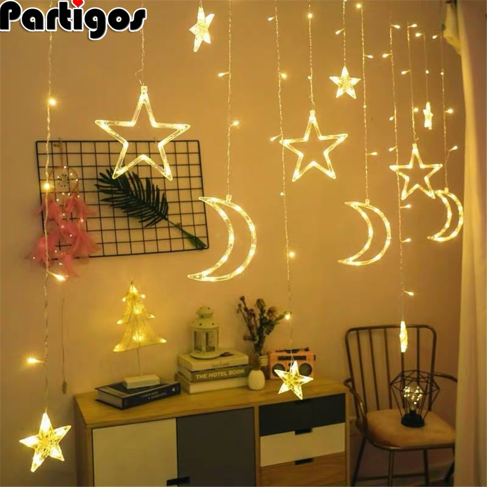 Partigos Moon Star LED Light String EID Mubarak Ramadan Decoration Islamic Muslim Party Decor Eid Al Adha Ramadan And Eid Decor