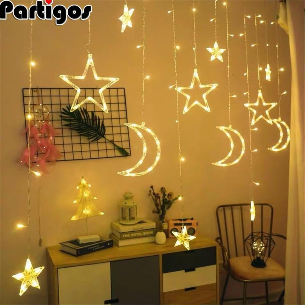 Tira de luces LED de 3,5 M para decoración de Ramadán, decoración de fiesta musulmana islámica, EID Al Adha, Ramadán y Eid
