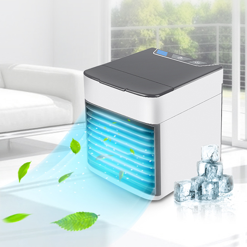 Mini USB Home Office Room Portable Air Conditioner Humidifier Purifier 7 Colors Light Desktop Air Cooling Fan Air Cooler Fan