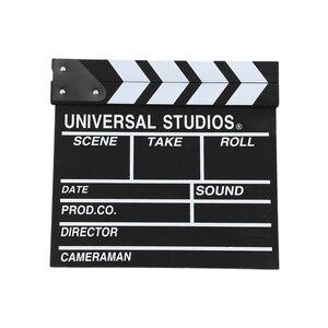 12x11 inch /30cm x 27cm Wooden Director's Film Movie Slateboard Clapper Board
