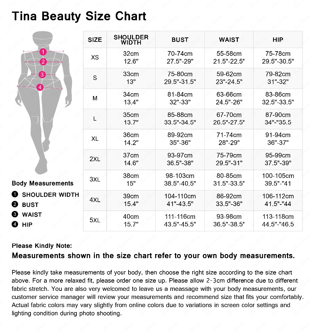 maxi elastic size chart