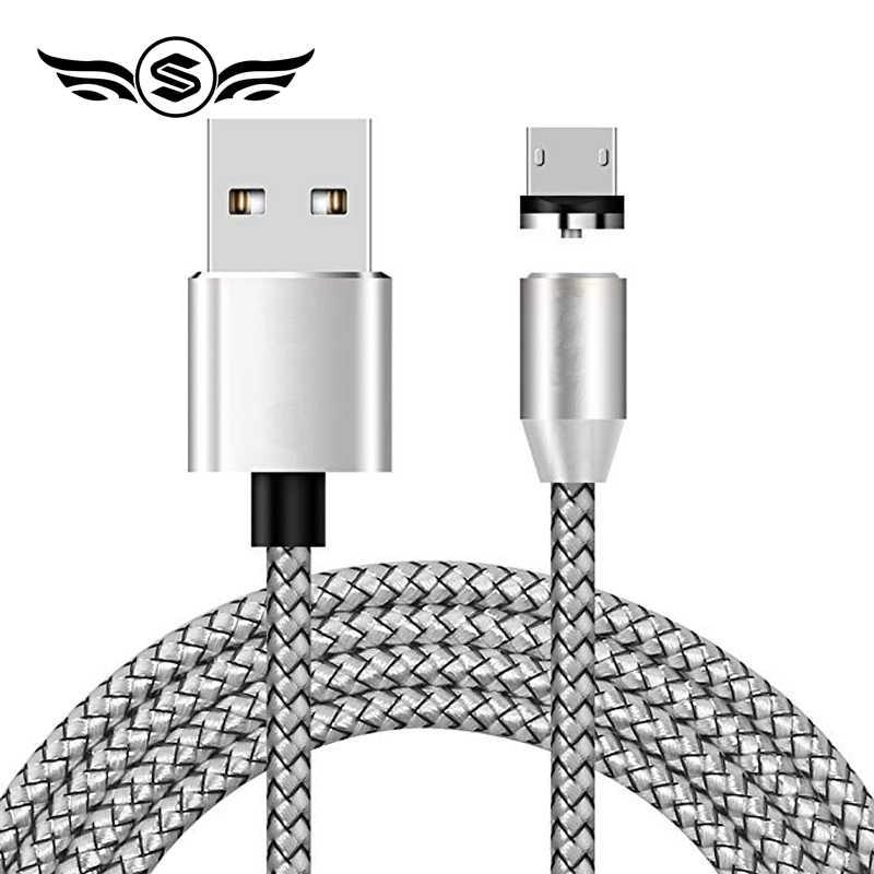 Cable magnético Micro USB tipo C para iPhone Cable de iluminación 1M 3A Cable de carga rápida imán tipo C cable cargador para teléfono Xiaomi