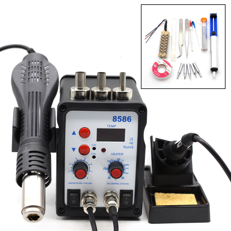 Yarboly 8586 SMD BGA Rework Solder Station Hot Air Blower Heat Gun Hair Dryer Soldering Hairdryer Desoldering Tool