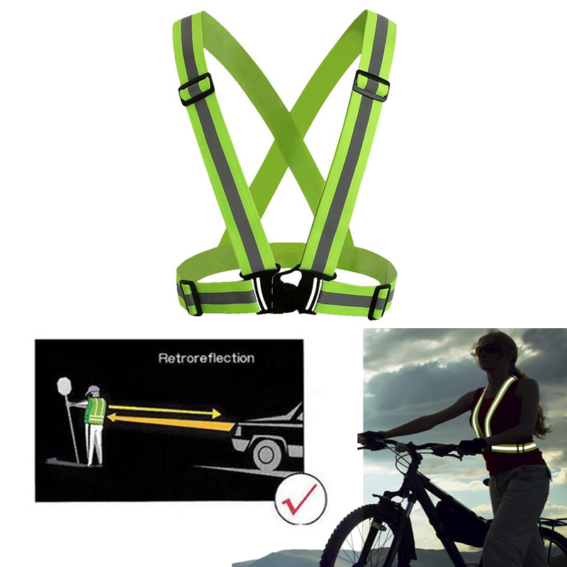 Купить с кэшбэком Adjustable Safety Security High Visibility Reflective Vest Gear Stripes Night Running