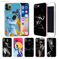 case iphone 5 Fencing Cool Sport Case for Apple iphone 11 Pro X XS Max XR 7 8 6 6S Plus + 5 S SE 5C Silicone Carcasa Phone Coque Cover (1)