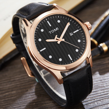 TOMI Brand Men Watch Quartz Hours Clock Auto Date Fine Workm