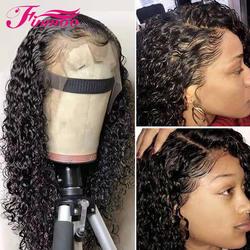 Кудрявый парик бразильский На сшивке 180% плотность 360 кружева спереди al парик с волосами младенца кружева передние человеческие волосы
