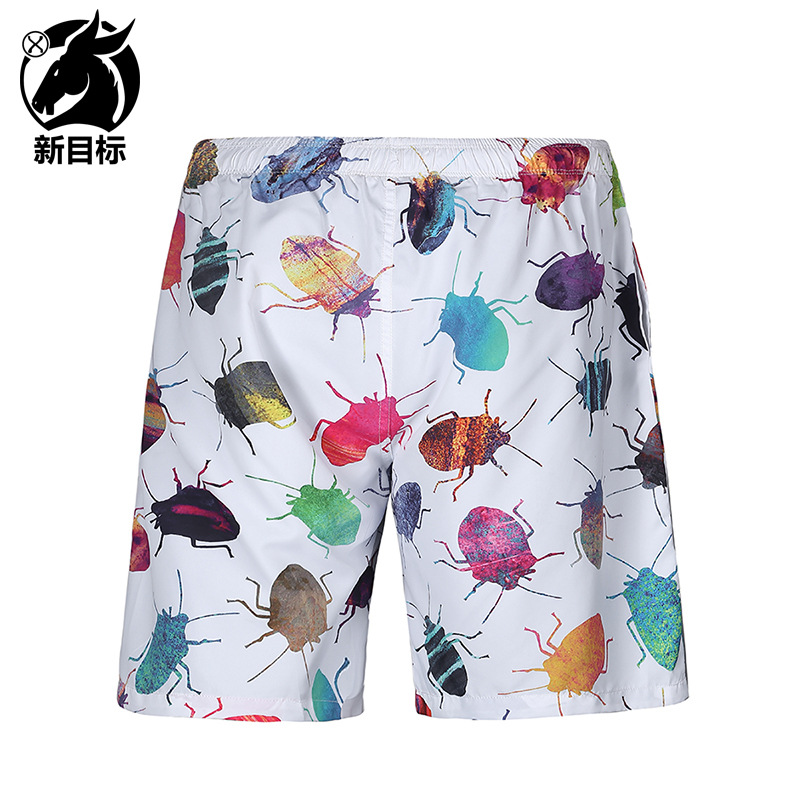 AliExpress 2019 Summer Wear New Style MEN'S Swimming Trunks Creative Insect 3D Printed Beach Shorts Fashion Casual Men's Middle