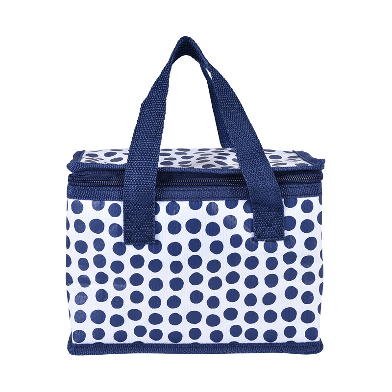 Blue Spot Lunch Bag Insulated BagsThermal Lunch Box Picnic Bag Cooler Tote Ice Pack Handbag for School Aluminium Film Food Bags image