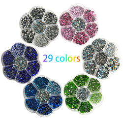 5000Pcs Mixed Size Hotfix Rhinestones/SS6-SS30 Strass Glass Crystal Rhinestone DMC Rhinestones Hotfix Stones for Clothing Decor