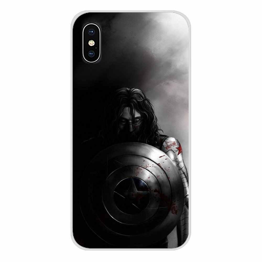 Aksesoris Ponsel Shell Mencakup Bucky Barnes Marvel untuk Samsung Galaxy J1 J2 J3 J4 J5 J6 J7 J8 Plus 2018 prime 2015 2016 2017